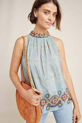 $ CDN125 • Buy  Anthropologie  Loire Embroidered Blouse Size XL New Nwt