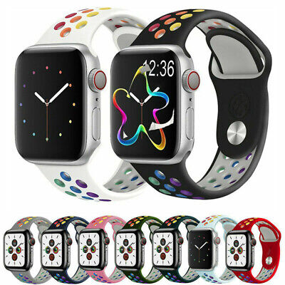 AU10.99 • Buy Sports Silicone Strap IWatch Band For Apple Watch Series 12/3/4/56 38/40/42/44mm