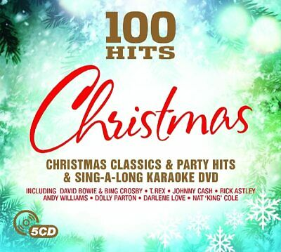 100 Hits - Christmas (5 Disc, 4CD & DVD) Classics, Party Hits And Sing-a-long • 4.99£