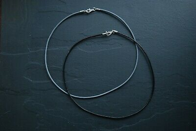 £2.60 • Buy 2mm Real Leather Cord Choker Necklace Black Or Grey 16  To 30  Lengths