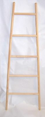WOODEN TOWEL LADDER TAPERED 140cms Tall - Over 30 Sold • 39£