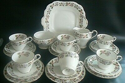 AYNSLEY April Rose China Tea Set 21 Pieces Excellent Condition • 39.95£