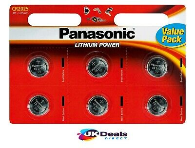 Panasonic CR2025 Lithium Coin Cell 2025 3V Battery Car Key Fobs Toys Remote • 2.99£