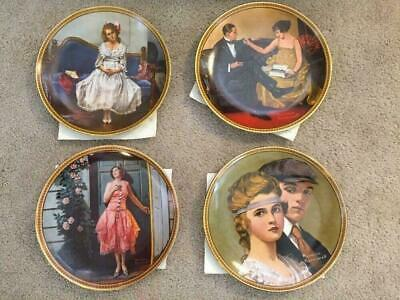 $ CDN60.14 • Buy Norman Rockwell Rediscovered Women Series Collector 4 Plates Knowles 7 10 8 5