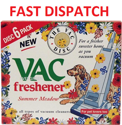 Vac Disc Hoover Vacuum Cleaner Air Freshener Discs For Pet Lovers Home Office UK • 2.99£