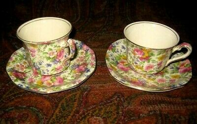 $ CDN55 • Buy 2 Vintage Royal Winton Chintz Cups And Saucers Summertime Pattern