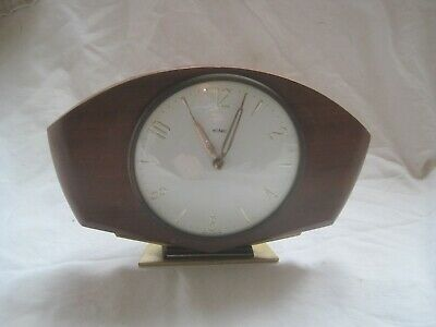 FULLY WORKING Wooden WOOD 30 Hour CLOCK By METAMEC Vintage GLASS England • 23.21£