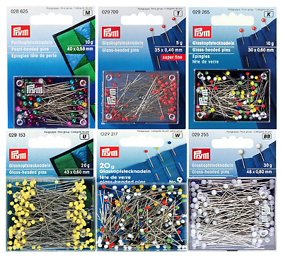 £4.49 • Buy Prym Glass & Pearl Headed Pins - Premium Quality - Choice Of Size & Colour