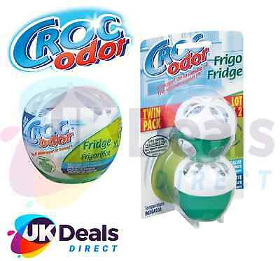 Croc Odor Twin Pack Fridge Fresh Deodoriser Neutraliser Odour Freshener Smells • 5.50£