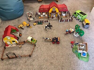 Playmobil Horse Stable And Farm Bundle (5221, 5222, 6928 And Other Bits) • 125£