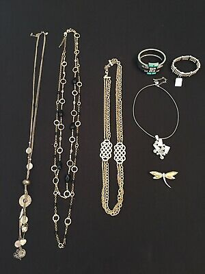 $ CDN33.32 • Buy 7 Piece Lia Sophia Jewelry Lot - Necklaces Bracelets Pin
