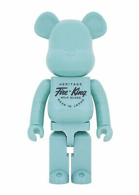 $2000 • Buy Medicom Bearbrick 2016 Fire King Jade-ite Teal 1000% Japan Ltd 500 Be@rbrick NEW
