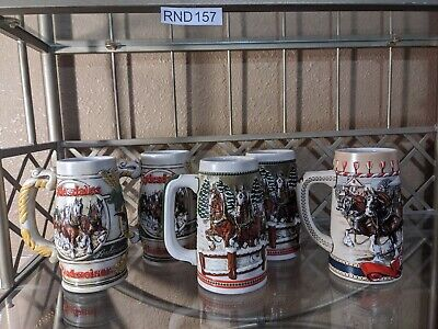 $ CDN46.24 • Buy LOT OF 5 - Budweiser Clydesdale Beer Steins Ceramarte Brazil