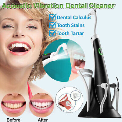Electric Sonic Plaque Dental Scaler Tartar Calculus Remover Tooth Stains Tool UK • 12.99£