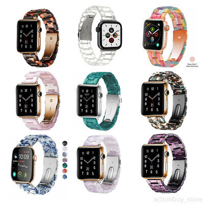 AU22.99 • Buy 38/42/44mm Luxury Resin IWatch Link Band Strap For Apple Watch Series 6 5 4 3 21