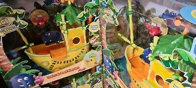 DISNEY JUNIOR JUNGLE JUNCTION PLAYSET Taxi Crab Boat Toys Brand New • 10£