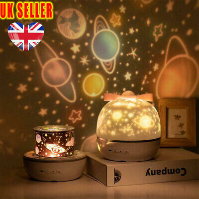 Magic 360 Rotation LED Night Light Projector Starry Sky Baby Kids Bedroom Lamp^ • 16.68£