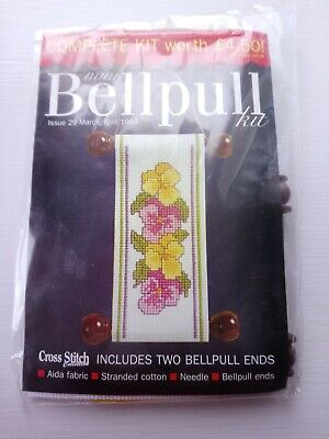 Mini Bell Pull Kit From Cross Stitch Collection - Pansies Floral • 5£