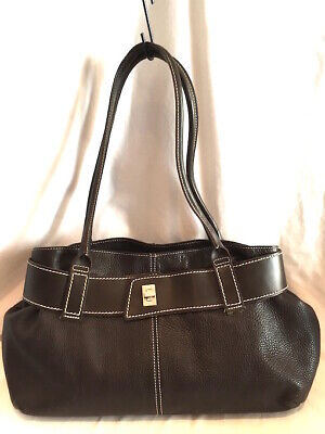 Russell & Bromley Large Brown Leather Bag 2-Strap Made In Italy Excellent  • 79.95£