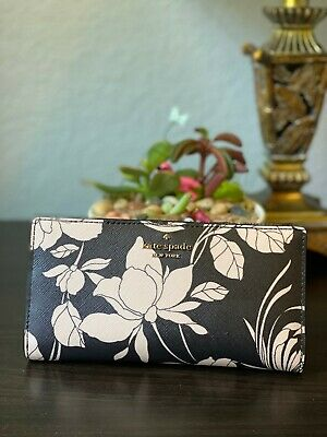 $ CDN79.03 • Buy Kate Spade New York Laurel Way Gardenia Stacy Wallet - Black Multi - WLRU6080