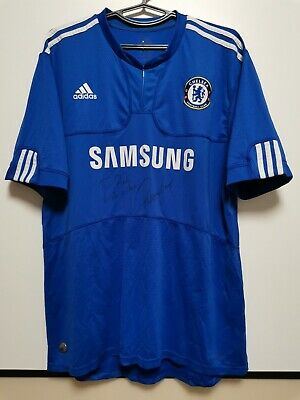 SIZE XL Chelsea 2009-2010 Home Football Shirt Jersey Signed Torres • 100£