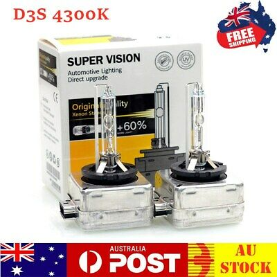 AU59.99 • Buy D3S D3R 4300k 35W HID Xenon Headlight Bulbs Globes Replace For Philips For Osram