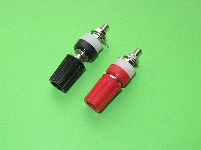 £5 • Buy TWO 4mm INSULATED TERMINAL BINDING POSTS 15AMP RED & BLACK  SPEAKER POWER SUPPLY