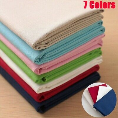 1x Embroidery Fabric Cotton Linen Sewing Cloth Fabric Sewing Embroidered DIY • 4.70£