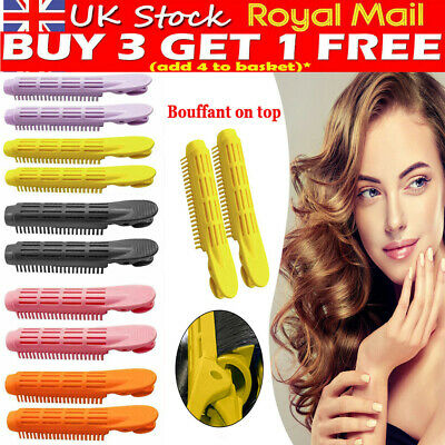 2X Natural Fluffy Hair Clip Hair Root Curler Roller Wave Fluffy Hairstyling Clip • 3.65£