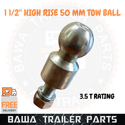 AU69.95 • Buy Towball High Rise Trailer Coupling! High Rise Tow Ball 50mm 1.5  3500kg Rating !