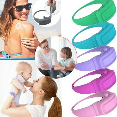 Hand Cleaning Gel Refillable Wristband Dispenser Wearable Squeezes Soap 98 • 3.28£