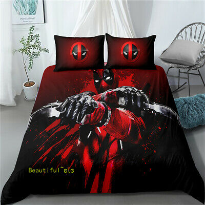 AU85.99 • Buy 3D Pistol Deadpool Single/Double/Queen/King Duvet Doona Quilt Cover Set Linen