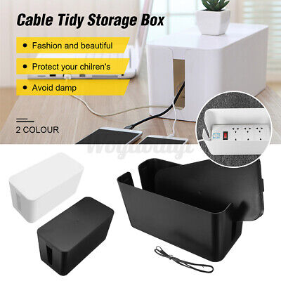 Cable Storage Box Case Wire Management Socket Safety Tidy Container Organizer UK • 9.59£
