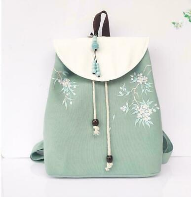 Chinese Retro Style Hanfu Accessory Youth Backpack Embroidery Canvas Trendy Bags • 22.37£