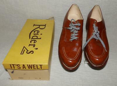 AU91.50 • Buy ORIG BOX VTG 40s 50s ROCKABILLY WOMEN'S LEATHER SHOES SWING 10 New Old Stock