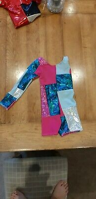 Age 4-6 Foiled Catsuit Dance Costume • 15£