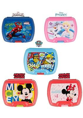 New Design Kids Character Sandwich Lunch Snack Box School Licenced Item UK Stock • 4.98£