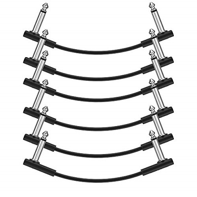 $ CDN26.82 • Buy Donner 15cm Guitar Effect Pedal Cable Flat Patch Cable Black 6-Pack