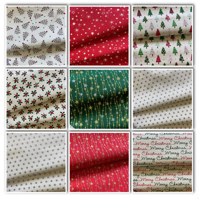 Christmas Fabrics 100% Cotton Fabric, Sewing Craft ** Ideal Face Coverings **  • 4.45£