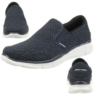 Skechers Equalizer Slickster Men's Slippers Moccasin Slip On Blue • 52.72£