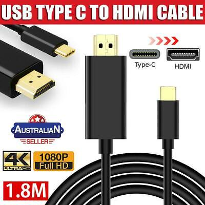 AU14.49 • Buy USB C To HDMI Cable USB Type C To HDMI Cord For Samsung S8 S9 S10 + Note 8 9