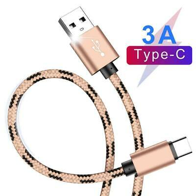 AU3.99 • Buy 2M USB Type C Cable Fast Charge Braided Charging Cord For Samsung S8 S9 S10 PLUS