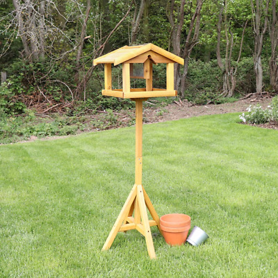 £24.99 • Buy Large Premium Bird Table With Feeder Wooden Traditional Feeding Station Home