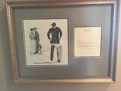 $ CDN1148.31 • Buy TWO NORMAN ROCKWELL SIGNED Letter And Signed Policeman With Boys Illustration