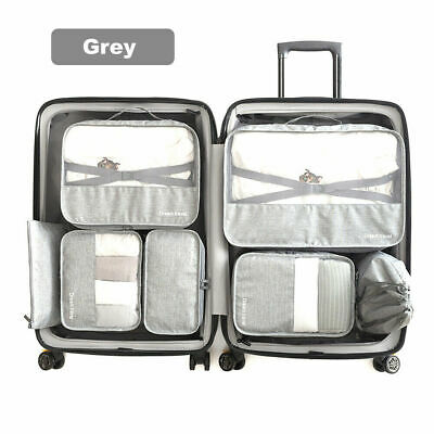 AU10.99 • Buy 7Pcs Packing Cubes Cube Travel Pouches Luggage Organiser Suitcase Storage Bags