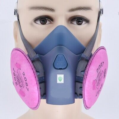 Gas Mask 7502+2097 Gas Mask Suit Respirator Painting Spraying Face Size M • 10.99£