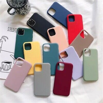 For Apple Silicone Case IPhone 11 X XR XS MAX 6 8 7&Plus Slim TPU Soft Rubber UK • 3.49£