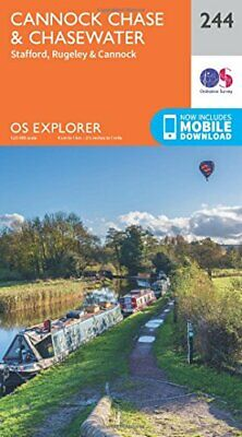 OS Explorer Map (244) Cannock Chase By Ordnance Survey Book The Cheap Fast Free • 7.99£