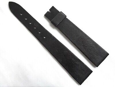 Vintage 18mm Swiss Made New Old Stock Genuine Thin & Soft Leather Watch Strap • 16.99£