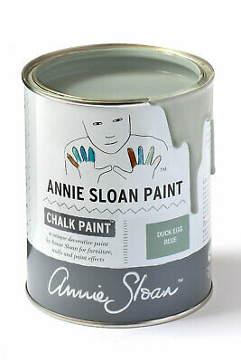 Annie Sloan Paint 1 X Large- 1 Litre Tin Of Duck Egg Blue- Very Swedish! • 39£